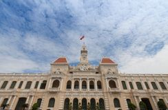 The people`s committee or Ho Chi Minh City Hall  in Ho Chi Minh. City , Vietnam Royalty Free Stock Photo