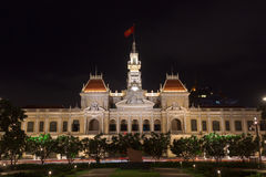 The people& x27;s committee or Ho Chi Minh City Hall  in Ho Chi Minh. City , Vietnam Royalty Free Stock Photography
