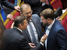 People`s deputies of Ukraine Lyashko and Pashinsky Stock Photo