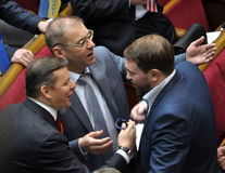 People`s deputies of Ukraine Lyashko and Pashinsky_2 Stock Images