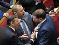 People`s deputies of Ukraine Lyashko and Pashinsky_2 stock images