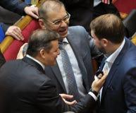 People`s deputies of Ukraine Lyashko and Pashinsky_3 royalty free stock photos