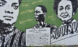 Free People`s Grocery Mural, Memphis, TN Stock Photo - 149586270