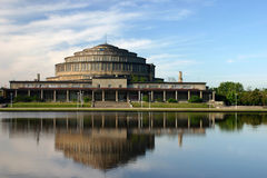 People's Hall in Wroclaw, Poland. Early morning. Royalty Free Stock Image