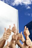 People's hand with thumbs up Stock Photos