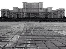 Peoples house in Bucharest built by Ceausescu. The parliaments building royalty free stock image