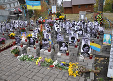 People s Memorial Heroes Heavenly hundreds in Kyiv_7 Royalty Free Stock Photos