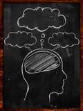 People's Minds blackboard. Put Text Stock Photos