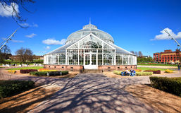 The People's Palace greenhouse on glasgow Green Stock Image