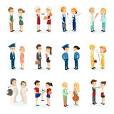 People`s professions set. Stock Images