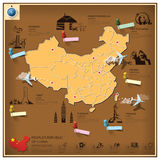 People's Republic Of China Landmark Business And Travel Infograp Royalty Free Stock Photography
