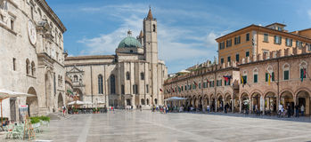 People's square in Ascoli - IT Royalty Free Stock Image