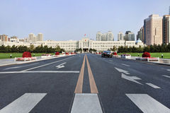 People's Square in the ealry morning, Dlian, China Stock Photo
