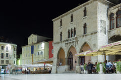People's square at night. Split. Croatia Royalty Free Stock Photography