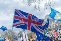 People`s Vote March in central London, UK stock image