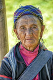 People of Sa Pa in Vietnam. Old woman from the Black Hmong ethic minority people in Sa Pa Stock Image