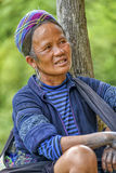 People of Sa Pa in Vietnam. Old woman of the Black Hmong Ethic Minority people in Sa Pa Stock Image