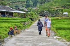 Hiking in Sa Pa, Vietnam Stock Photo
