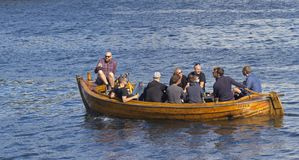 People sailing a rented boat Stock Image