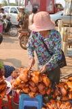 People sale fried bugs, Stock Photo