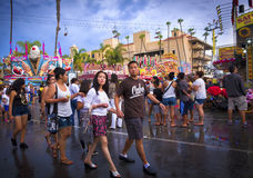 People, San Diego County Fair, California stock image
