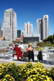 People in San Francisco. People enjoying a sunny day in the city of San Francisco Stock Photo