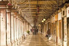 People in San Marco square passage Royalty Free Stock Images