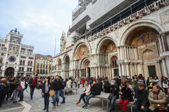 People on San Marco square Royalty Free Stock Images