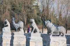 People& x27 Sanmenxia; парк s стоковое изображение rf