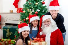 People with Santa Stock Images