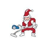 People Santa vacuum cleaner Stock Images