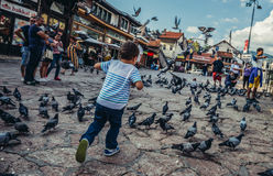 People in Sarajevo Stock Image