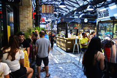 People at Sarona food market in Tel aviv, Israel Royalty Free Stock Photography