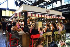 People at Sarona food market in Tel aviv, Israel Stock Photography