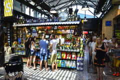 People at Sarona food market in Tel aviv, Israel Stock Image
