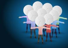 People-satellite dishes royalty free illustration
