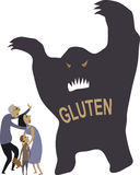 People scared of gluten Royalty Free Stock Photo