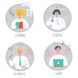 People of science, business and students Royalty Free Stock Photography
