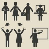 People science education icons Royalty Free Stock Images