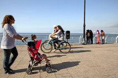 People on the seafront, Beirut Royalty Free Stock Photography