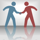 People Seal Agreement Deal Handshake Stock Photography