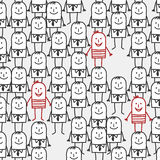 People seamless pattern Stock Image