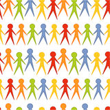 People seamless pattern Royalty Free Stock Photos