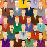 People seamless pattern. Men with moustaches and wearing costume Stock Images