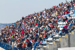 People seeing the training of Formula One, 2012 stock image