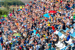 People seeing the World Superbike race, 2016 royalty free stock photos