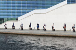People on segway city tour royalty free stock images