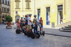 People on segways Royalty Free Stock Images