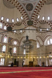 People in the Sehzade Mosque in Istanbul Stock Photo