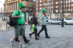 People selebrating St. Patrick's Day Royalty Free Stock Image